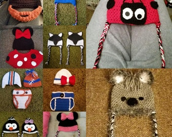 Beanies, Diaper Covers and Bows