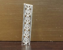 Sterling Silver 935  Decorative Ribbon Strip Gallery ( Serial No 176 )