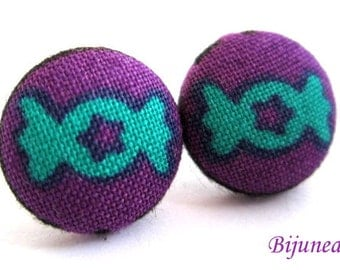 Candy earrings studs -Candy posts - Candy studs - Green Candy earrings - Candy jewelry - Purple Earrings Candy sf1077