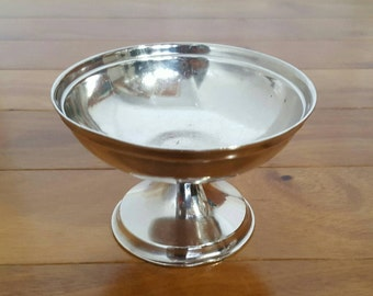 Antique REED & BARTON Silver Soldered Footed Sherbet/Dessert Bowl