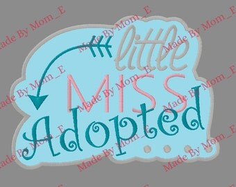 Little Miss Adopted Tribal Applique
