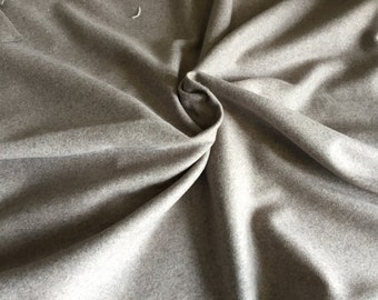 100% Wool Melton in Gray, 1 Yard piece, 56 inches wide, amazing weight and color