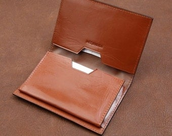 Minimalism Genuine leather name card holder business card holder credentials card holder