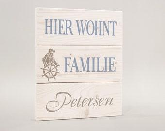 Door sign, door sign surname, family sailor