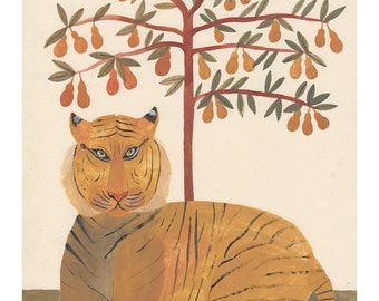 The Tiger & The Pear Tree Print