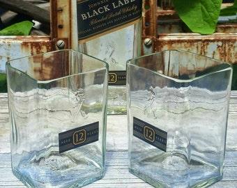 Johnnie Walker Scotch Upcycled Rocks Glasses