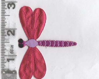 Large red dragonfly iron on patch