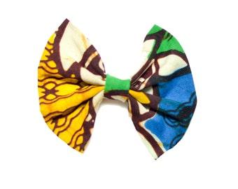 Kente Print Hair Bow/African Print Hair Bow