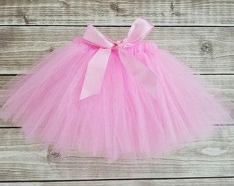 Girls tutu skirt, newborn photo outfit, pink tutu, back to school tutu, newborn tutu, baby tutu, first birthday tutu, toddler tutu