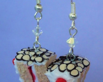 Almond/Cherry Cake Earrings