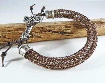 Mjolnir Bracelet, Thor Hammer Viking Bracelet, Husband Gift, Boyfriend Gift, For Dad, Viking Knit, Amulet Bracelet, Large, Man's Bracelet