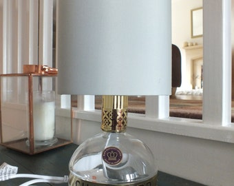Chambord (up cycled) Bottle Lamp + Lampshade - UK Plug with on/off switch.
