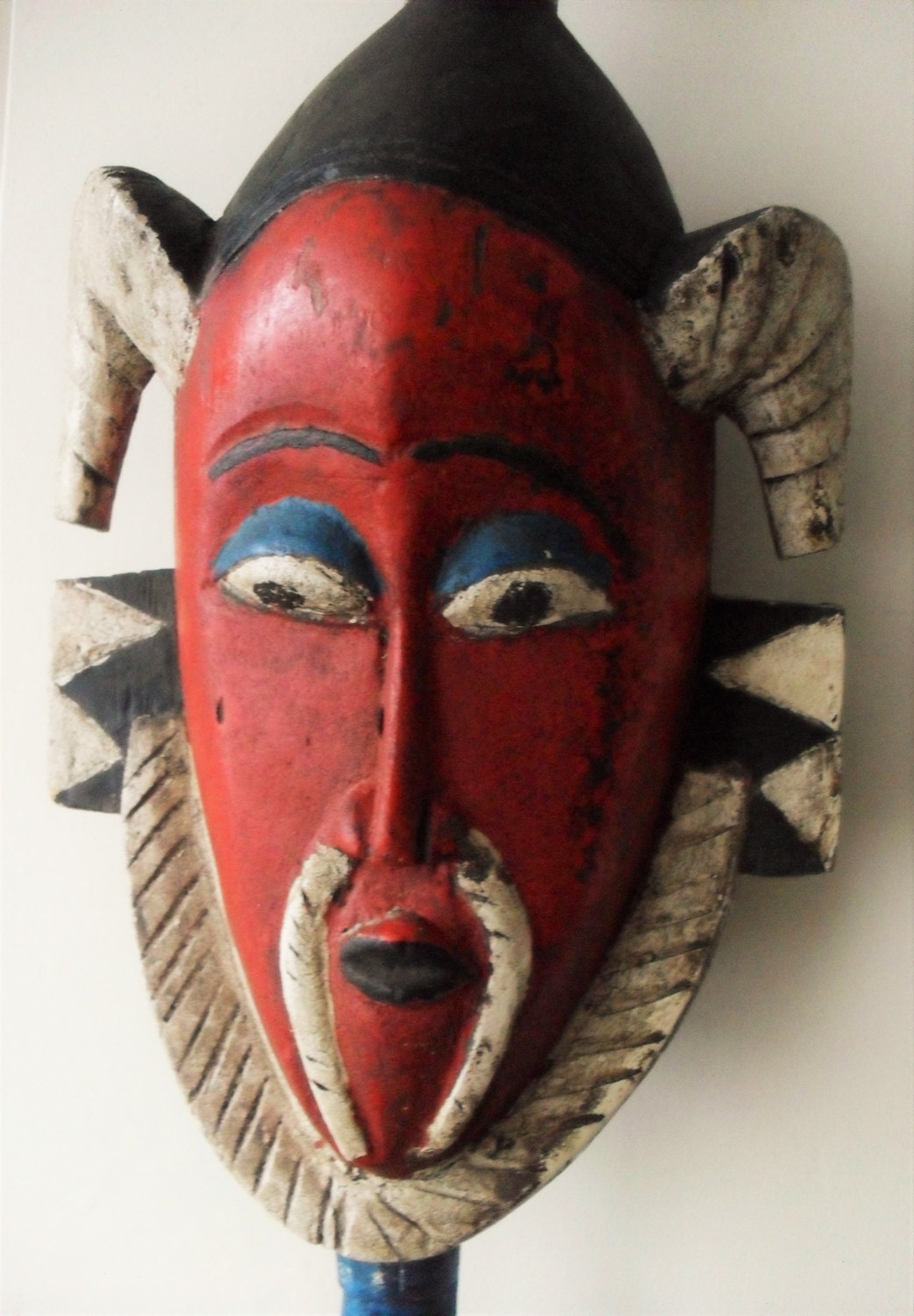 Wall Decoration With Masks : African mask wall decor hand carved colourful by