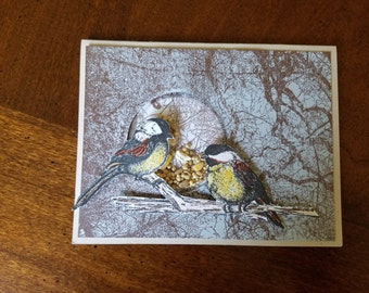 Greeting Card/Birds/with birdseed