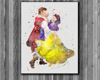Snow White DISNEY - Art Print, instant download, Watercolor Print, poster