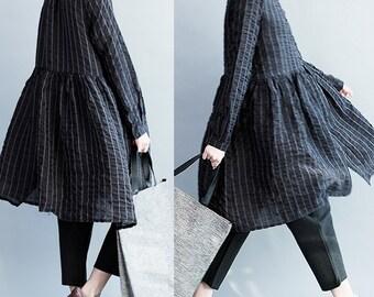 women leisure linen blouses/women spring tops/linen blouses for women/women linen skirts/BJDOCT13N335