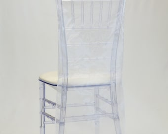 White Organza Chiavari Chair Cover