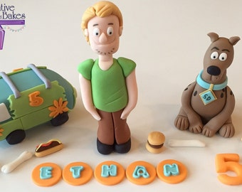 Scooby Doo Shaggy Mystery Machine personised edible cake topper