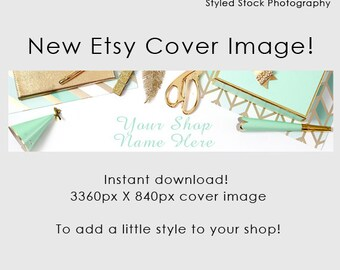 Etsy Cover Photo / Etsy Cover Image / Premade Etsy Banner / Premade / Header / Shop Banner / Cover Image / Stock Photo / Style-120