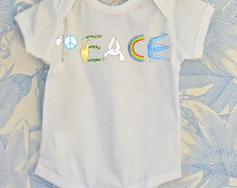 Watercolor Illustrated Infant Onesie