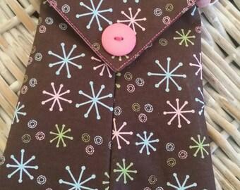 Phone Bags-(Chocolate n' Pink n' Blue n' Green Bursts)