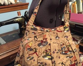 Roomy Music Print Handbag