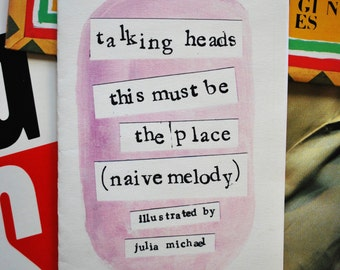 Talking Heads - This Must Be the Place (Naive Melody) Lyrical Zine