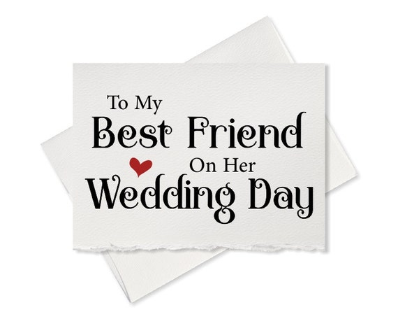 To my best friend on her wedding day, from bridesmaid to bride wedding ...