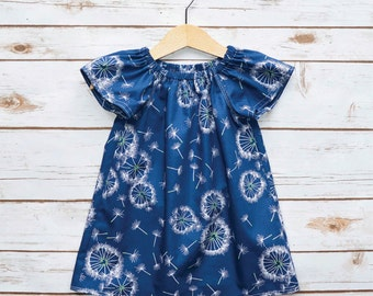 Girls Peasant dress | Girls dress | Summer Dress | Baby Gift | Girls floral dress | Baby Dress | Girl Toddler | Toddler Dress | Cotton Dress