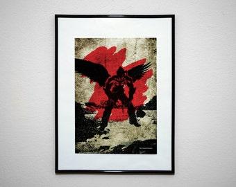 CURSED KAZAMA. Videogame VideoGrunge Art Minimalist Poster Print