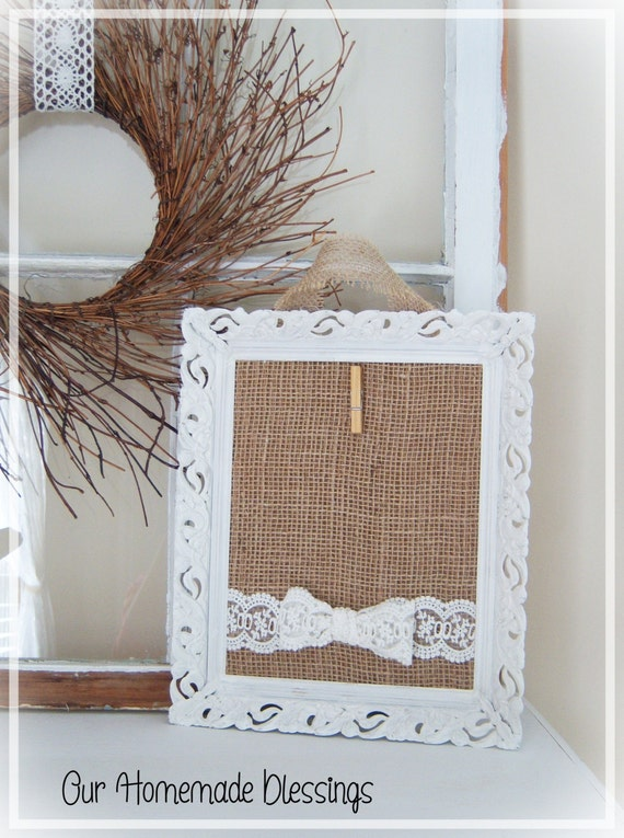 White Vintage Frame Rustic Farmhouse Shabby Chic Cottage