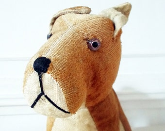 1940s French Toy Dog Stuffed Animal