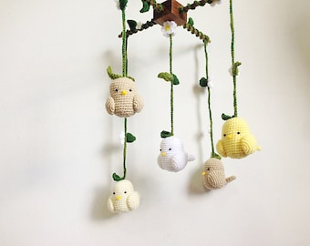 Baby mobile Crochet Cute Counting Sheep Sheep baby