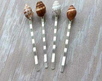 Seashell hair accessory, Hawaiian shell bobby pin, seashell bobby pin, beach wedding seashell hair pin, beach hair, Hawaiian wedding hair