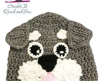 Crochet Schnauzer Beanie
