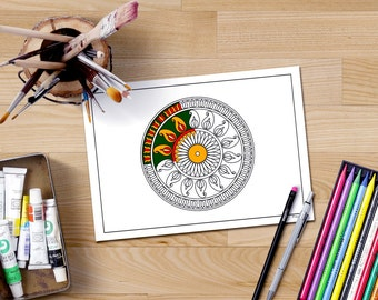 Mandala Coloring Pages Mindfulness Art Therapy Book
