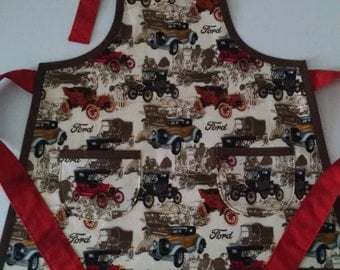 Boys Toddler Apron Boys Vintage Antique Ford Apron
