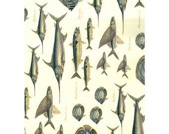 Decoupage Paper, Scrapbook paper, fishes, fish, fishes album, blue fishes, blue fish, sea fishes, sea life, die cuts, cutouts, card making,