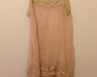 1940s Sheer Pink Slip