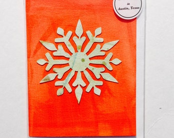 Hand-painted Snowflake Greeting Card