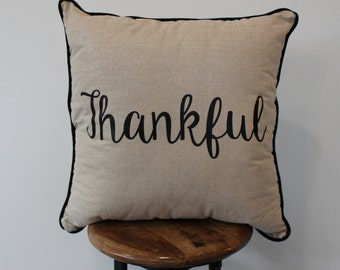 Thankful Pillow 22x22""
