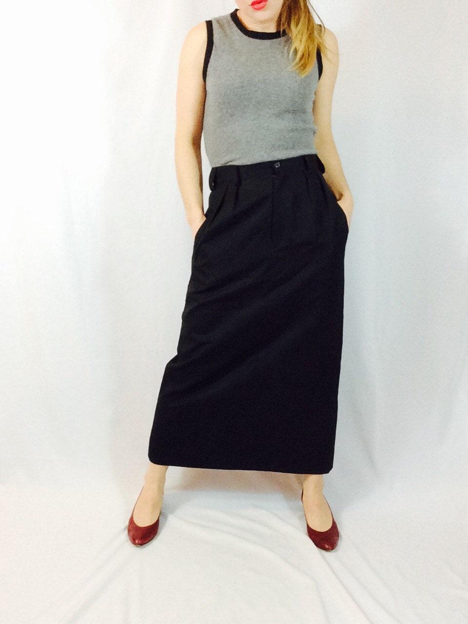 black wool maxi skirt black maxi skirt black skirt black
