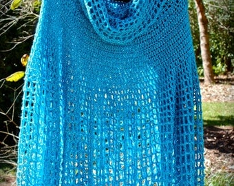 plus size woman's crochet poncho