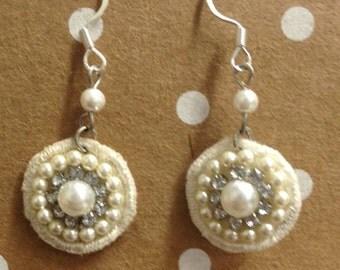 Fabric Medallion Earrings