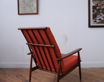 Spindle-Back Danish-Style Lounge Chair