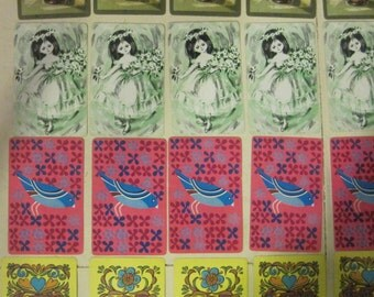 20 single vintage playing cards