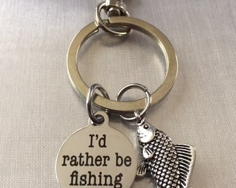 Fishing keychain or backpack jewelry