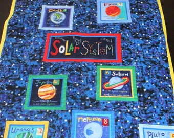 Solar System Baby/Toddler Quilt