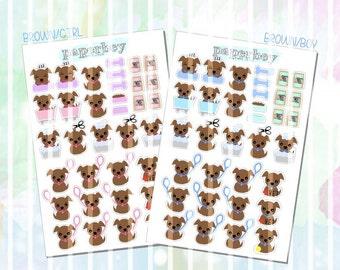 Sera's 34pc Set of Puppy Dog Planner Stickers