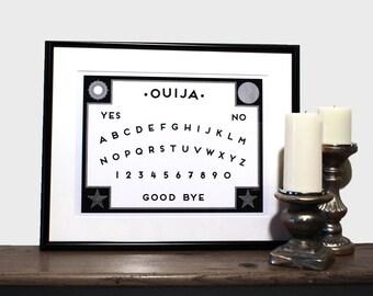 Ouija Board Print // 12 x 16 Screen Print